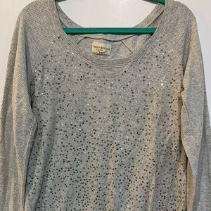 Denim & Supply Ralph Lauren Gray Sequin Sweatshirt